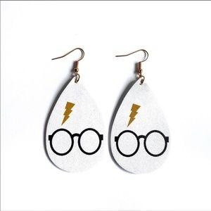 Harry Potter Lightening Bolt Teardrop Earrings